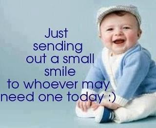 Just sending out a small smile to whoever may need one today :)