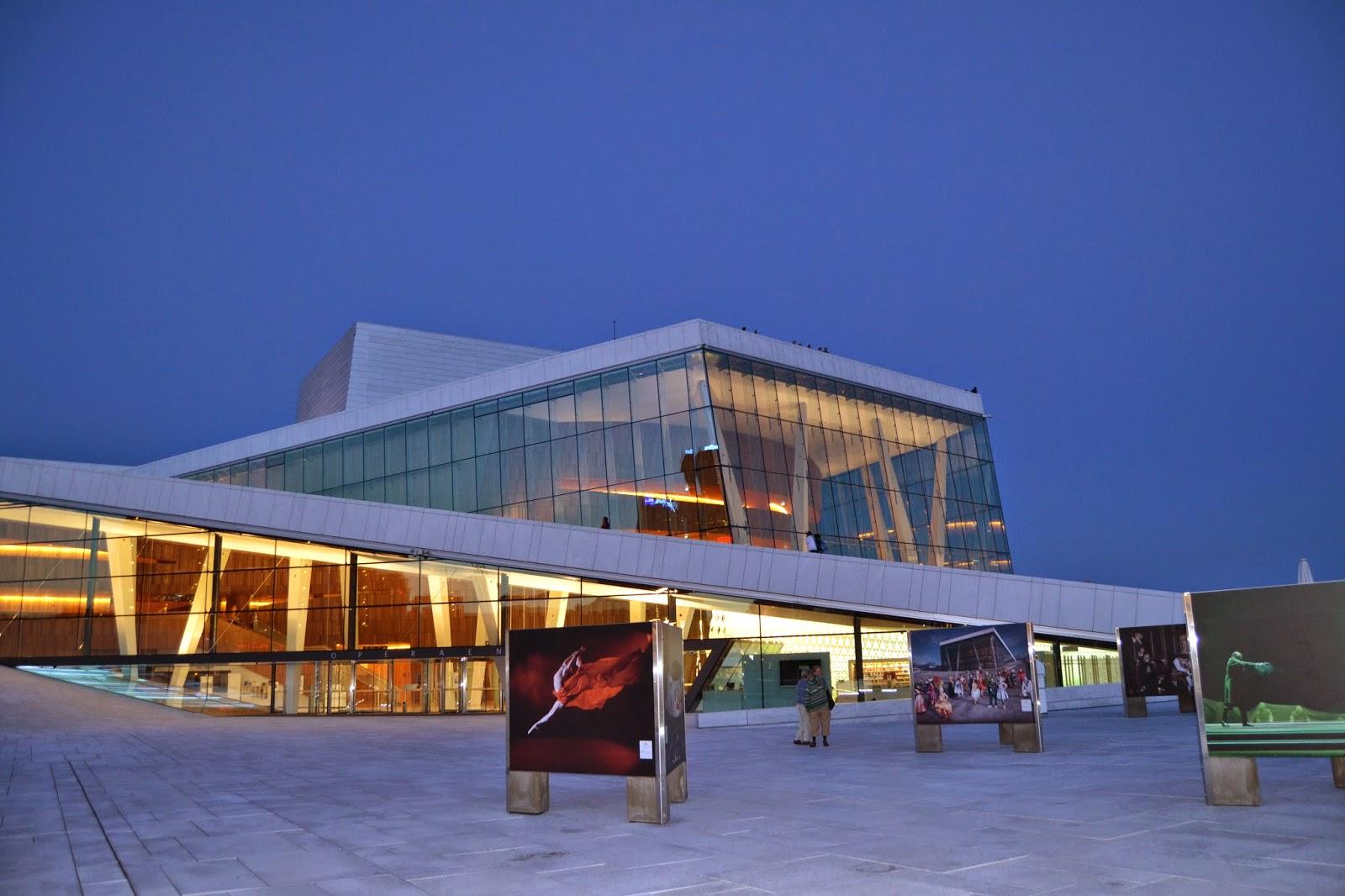 Oslo opera house night