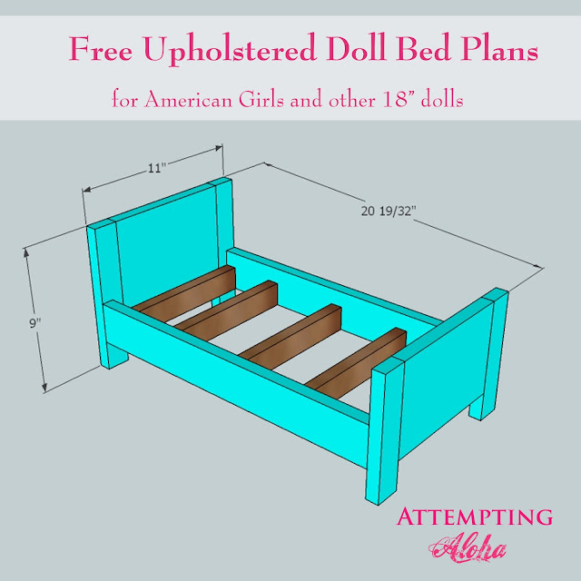 Attempting Aloha Upholstered American Girls Doll Bed Plans