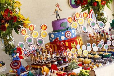 {dia de festa} festa vingadores - dicas de decoração / reprodução internet