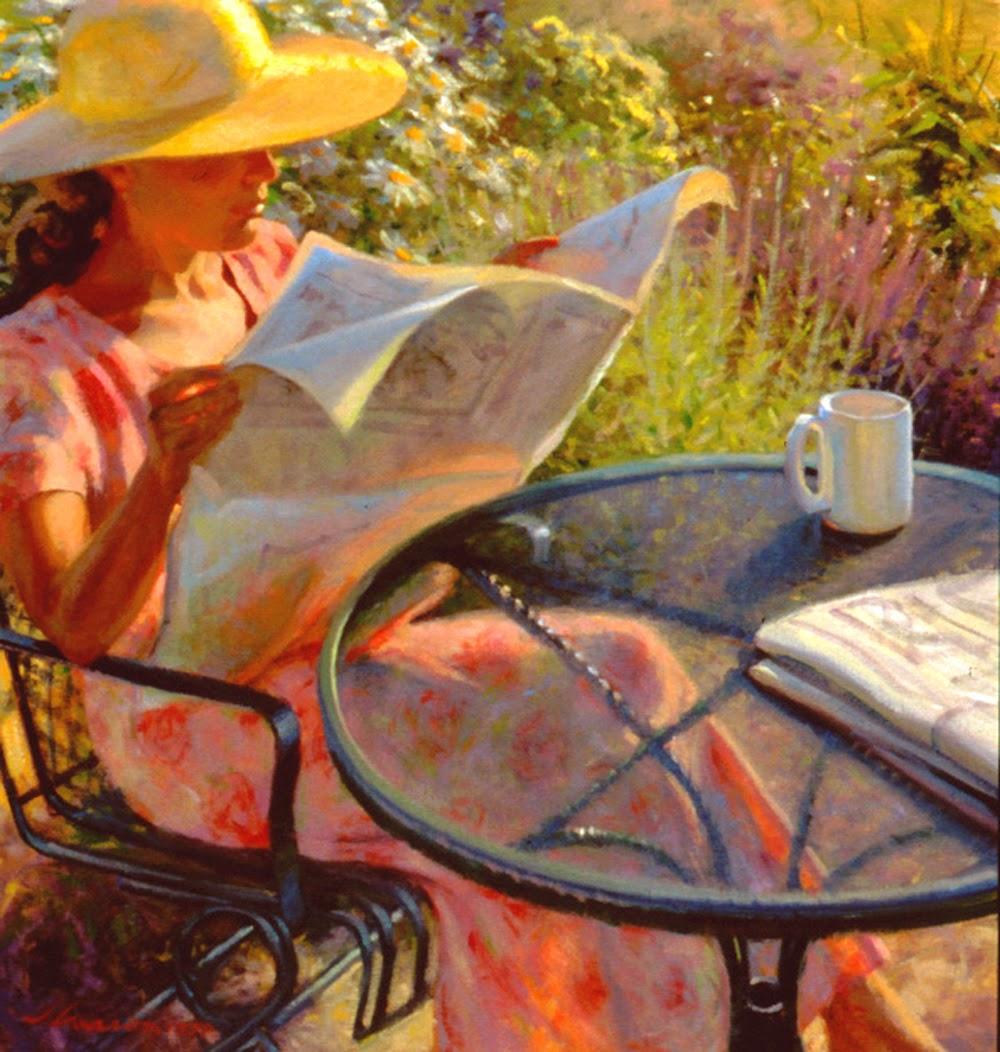 Renew watercolor artist magazine - Jeffrey T Larson 1962 Figurative Painter