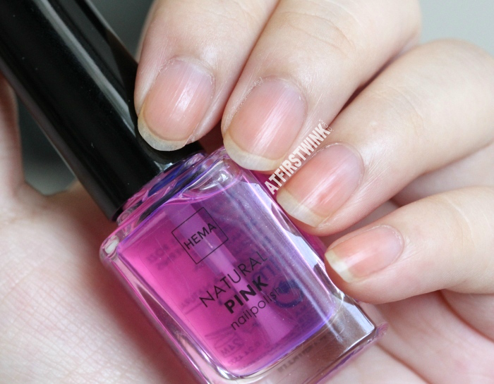 HEMA natural pink nail polish (Dior Nail Glow dupe) | bare nails