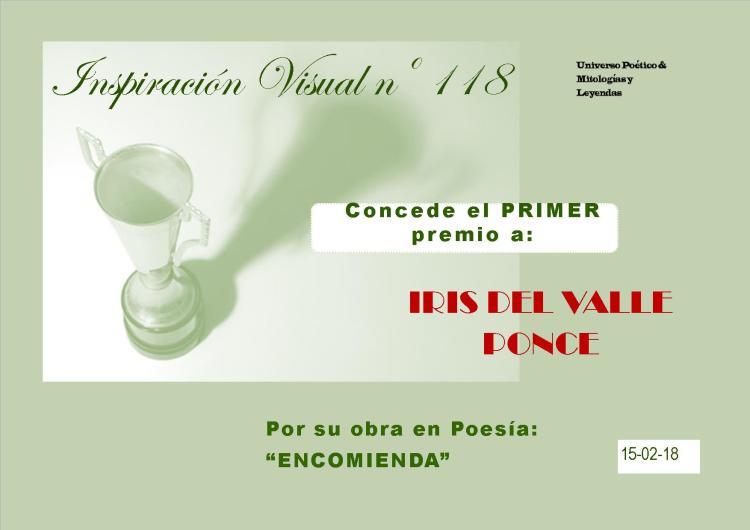 1ER. LUGAR INSPIRACIÓN VISUAL 118