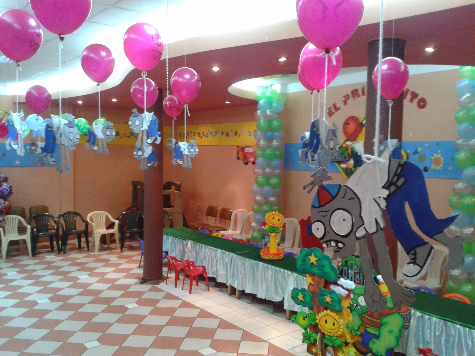 El principito decoracion plantas vs zombies for Decoracion con globos plantas contra zombies