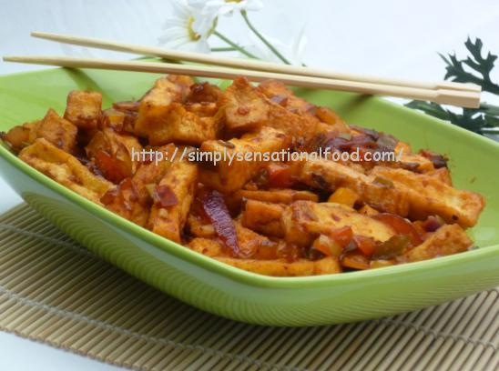 simply.food: Singapore sweet and sour stirfried Tofu