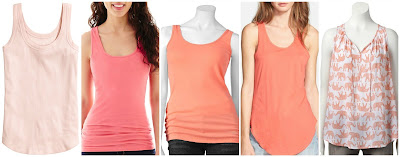 H&M Ribbed Tank Top $4.00 (regular $7.95)  A.N.A. Essential Racerback Tank Top $5.99 (regular $14.00)  Sonoma Life + Style Everyday Solid Tank $7.99 (regular $14.00)  Leith Knit Racerback Tank $17.42 (regular $26.00)  Sonoma Life + Style Challis Tank $19.99 (regular $30.00) lots of colors and prints available
