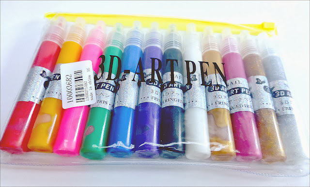 Tmart 3D Nail Art Pens Review and Giveaway