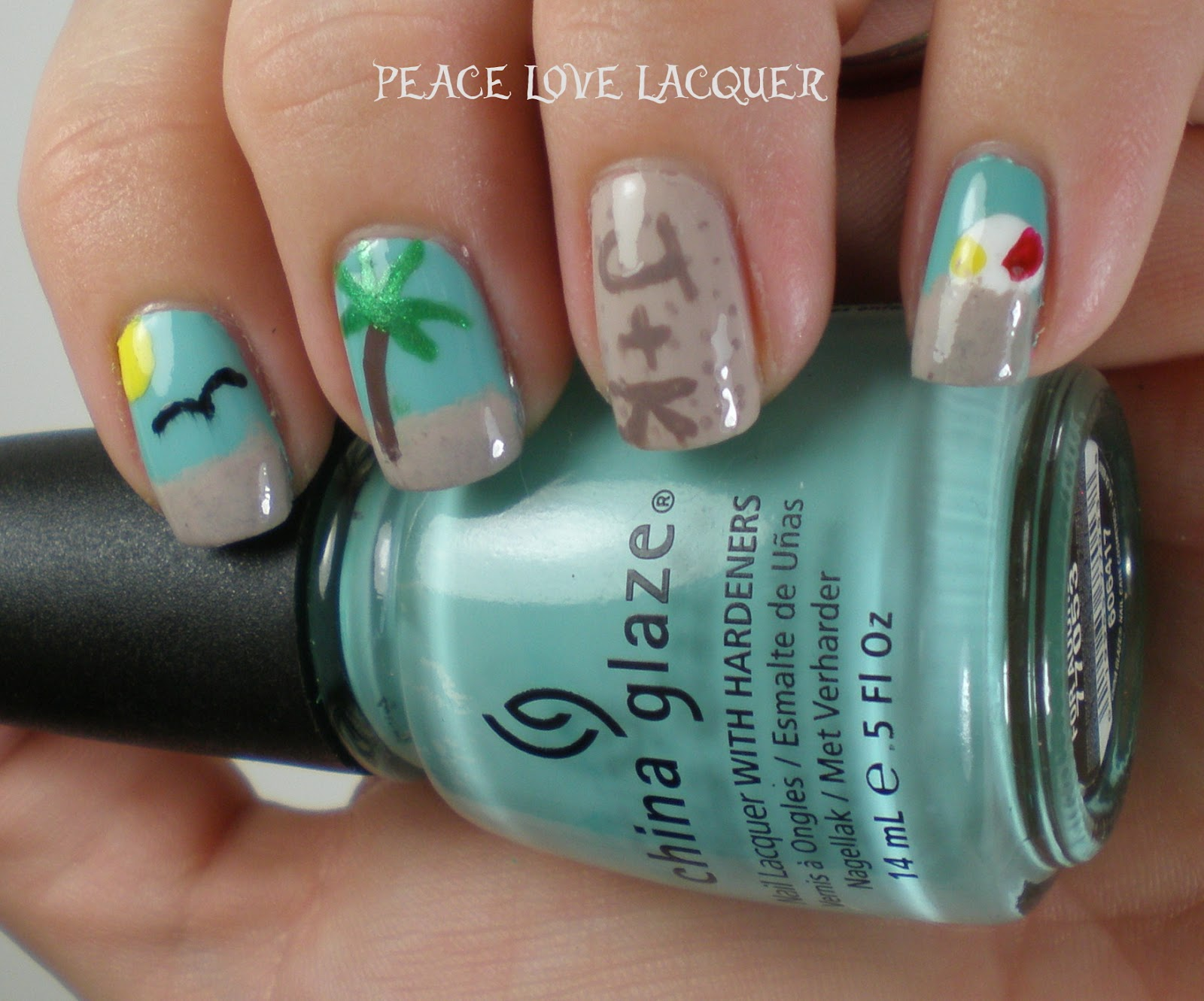 Peace love lacquer falling forward nail art challenge day 2 falling forward nail art challenge day 2 beachtropical prinsesfo Gallery