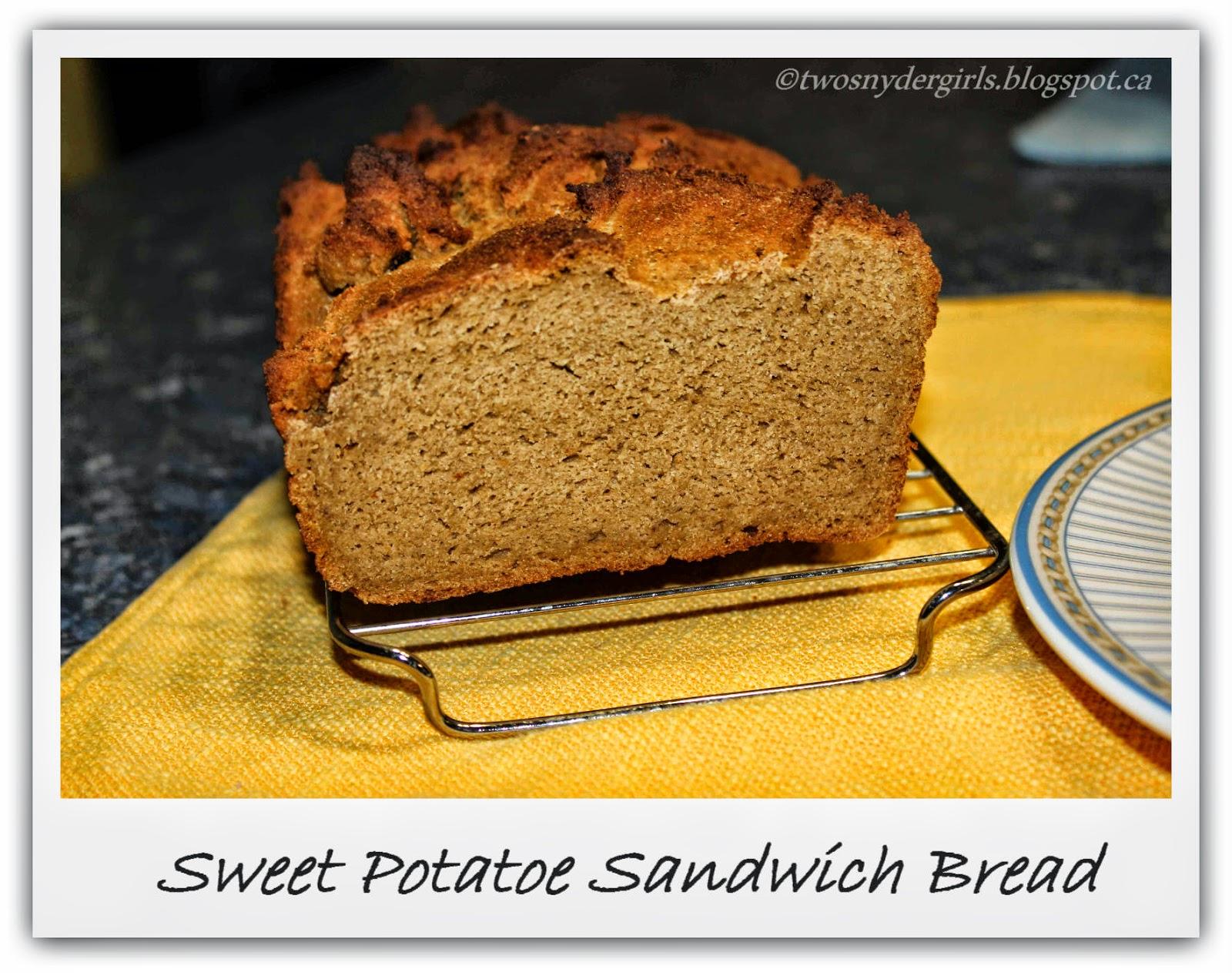 Sweet Potatoe Sandwich Bread Gluten Free