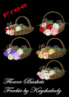 Flower Baskets PNG Tubes