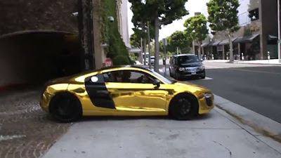 Tyga Golden Chrome Audi R8