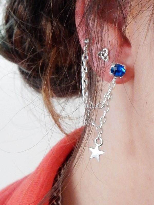DIY : boucle d'oreille double