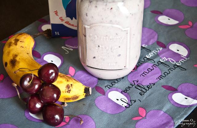 Recette smoothie cerise banane lait