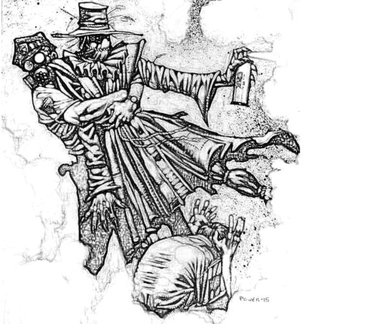 batman-arkham -city-riddler-scarecrow-poison-coloring-pages