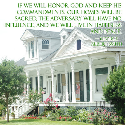 If we will honor God and keep his commandments, our homes will be sacred, the adversary will have no influence, and we will live in happiness and peace. - George Albert Smith