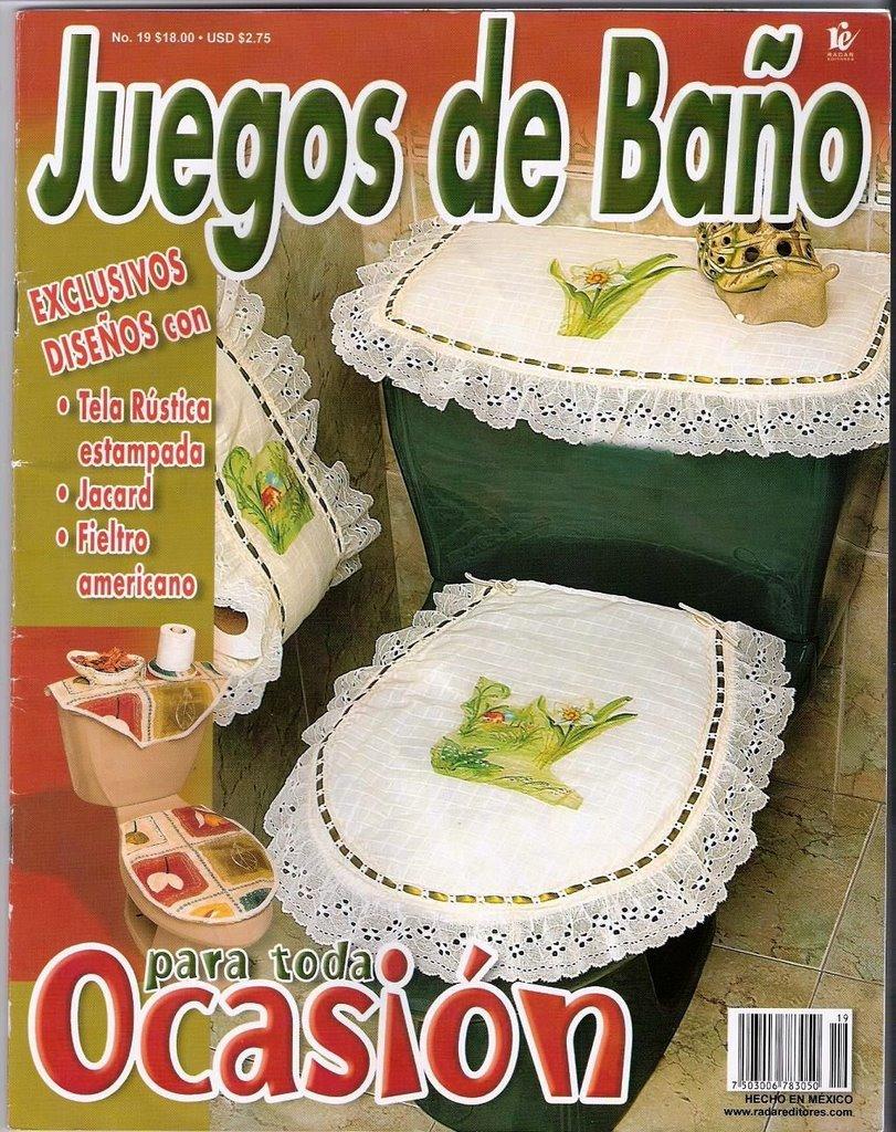 Lenceria De Baño En Foami:Revistas de Manualidades Para Descargar: Juegos de Baño N°19