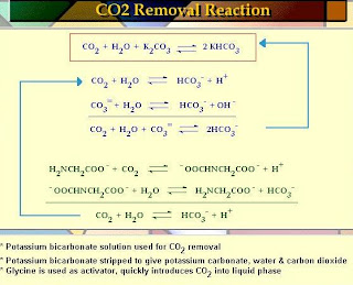 carbon dioxide absorption reaction with potassium bicarbonate storage carbon