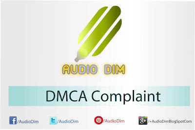 AudioDim DMCA Complaint
