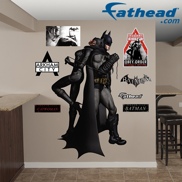 FATHEAD Launches BATMAN ARKHAM CITY (Video Game) Wall Mural Stickers! Part 34