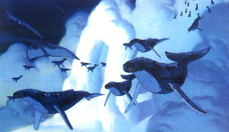 Flying whales Pines of Rome segment Fantasia 2000 1999 animatedfilmreviews.blogspot.com