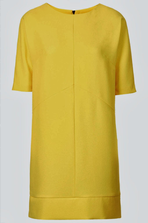 topshop yellow dress