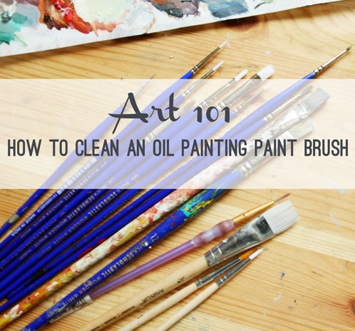 art 101 how to clean an oil painting paint brush erika lee sears. Black Bedroom Furniture Sets. Home Design Ideas