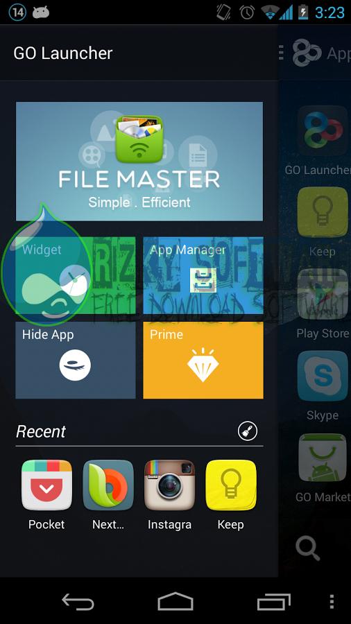 GO Launcher EX v5.02 APK Update Terbaru