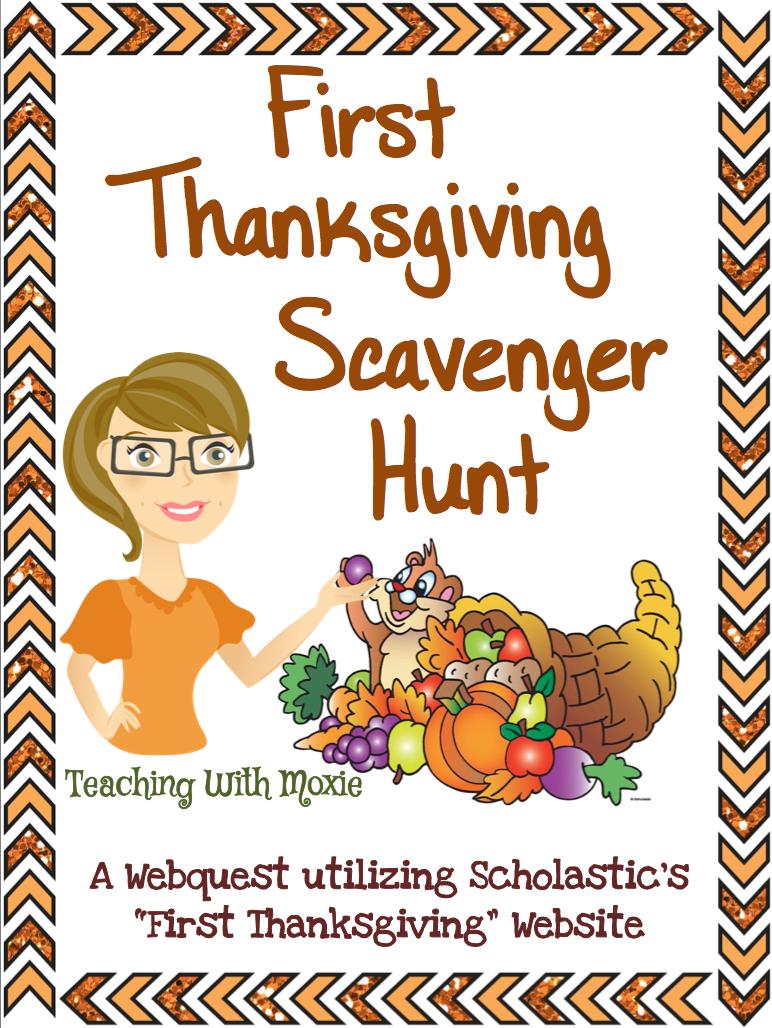 http://www.teacherspayteachers.com/Product/First-Thanksgiving-Scavenger-Hunt-1562797