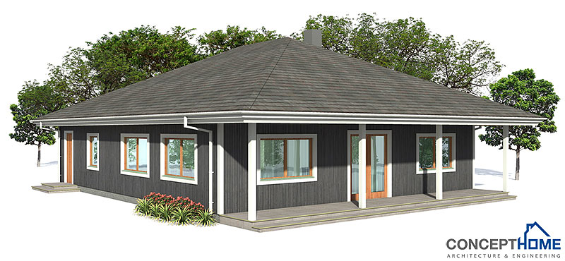 Contemporary house plans small affordable house plan for Affordable modern home plans