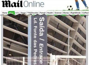 Jornal britânico alfineta erro em placa de sinalização da Fonte Nova