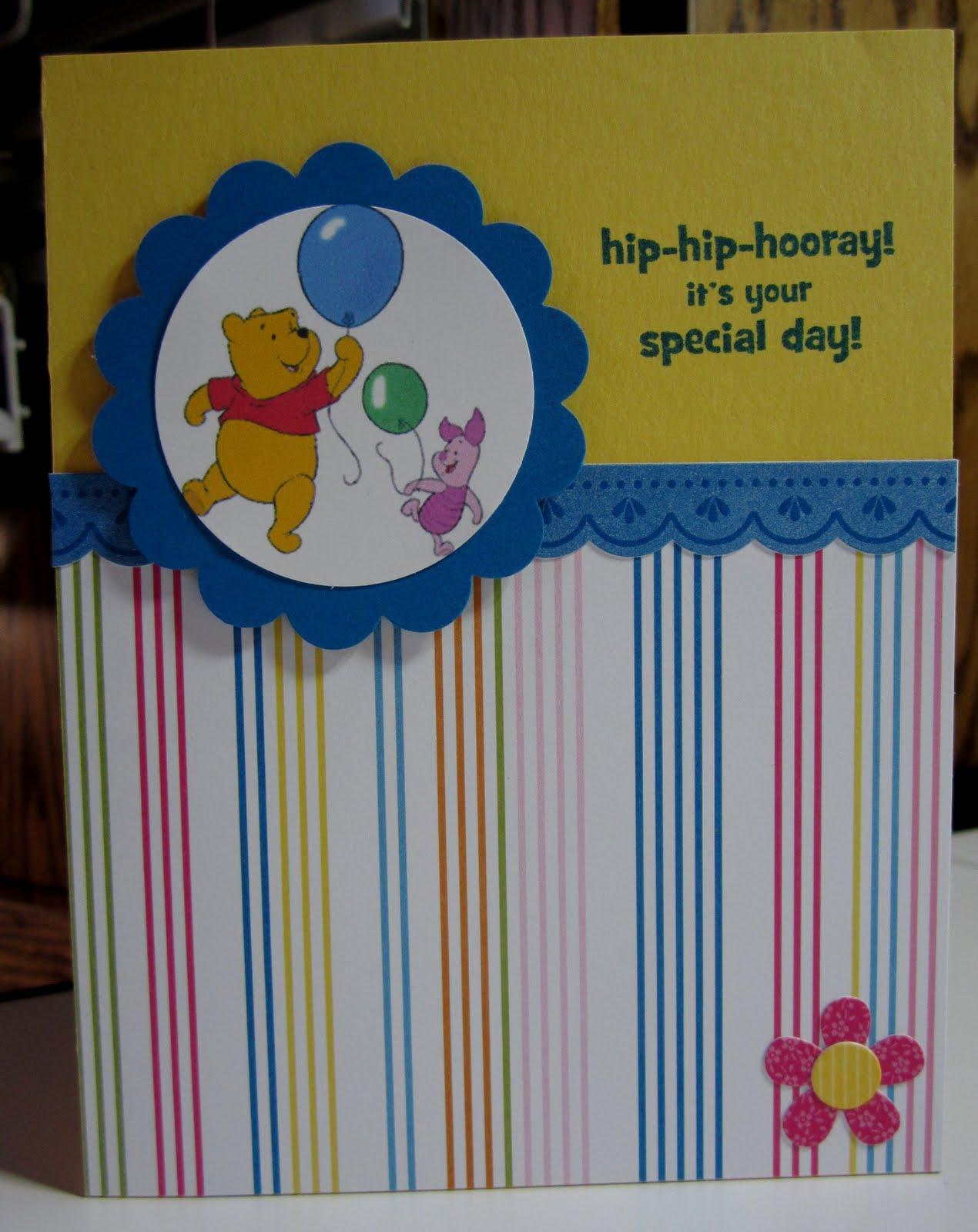 Jennifer s Stamp Pad Pooh Bear Birthday Card