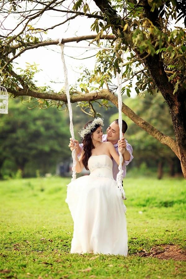 Địa điểm chụp ảnh cưới đẹp ở Hà Nội: Vườn nhãn Gia Lâm5