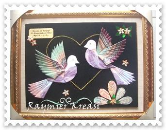 Raymier Kreasi Mahar Sepasang Burung Merpati
