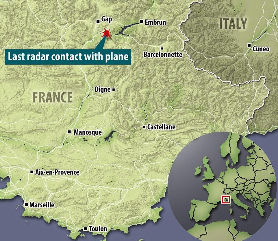 Nahas pesawat di Perancis