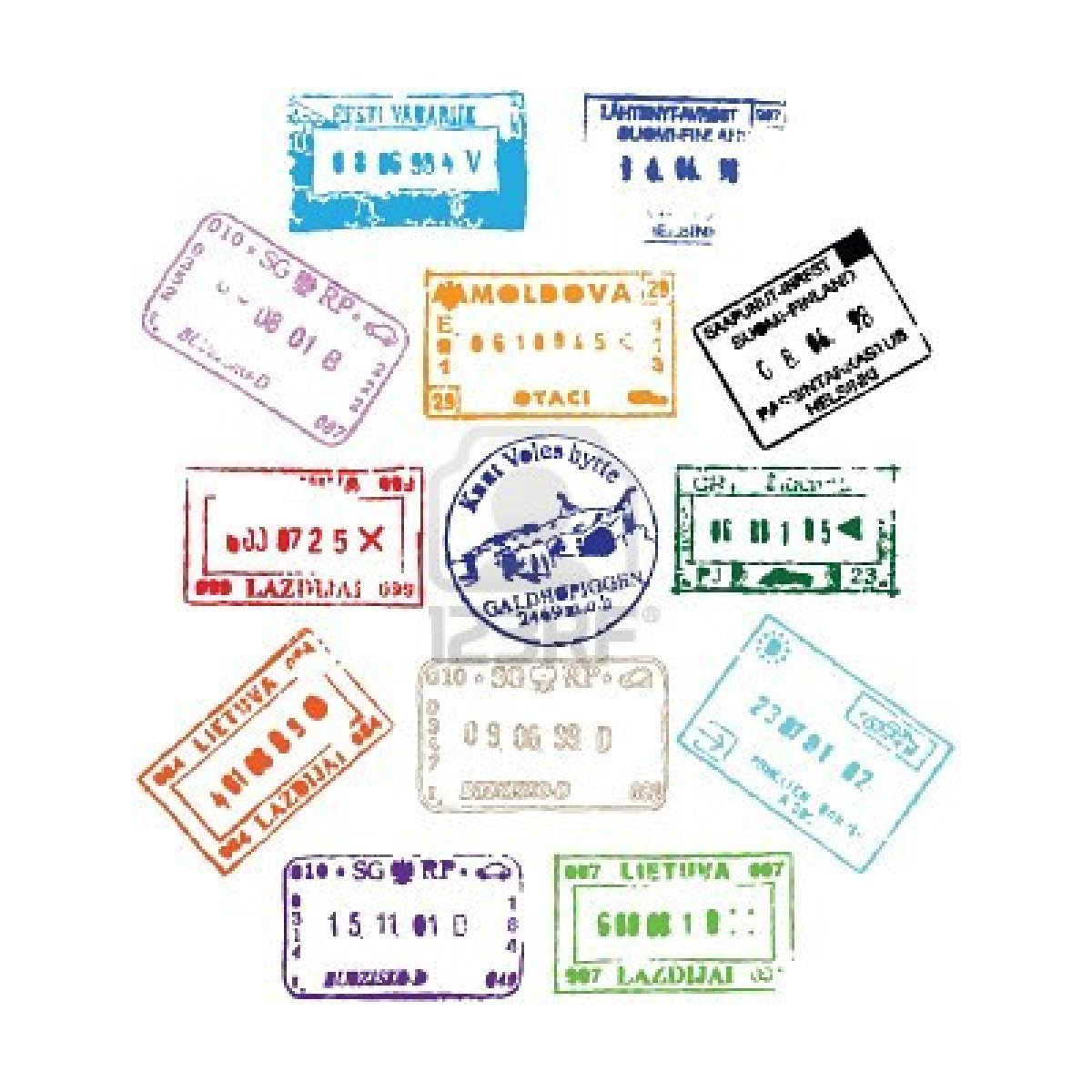 how to read passport stamps