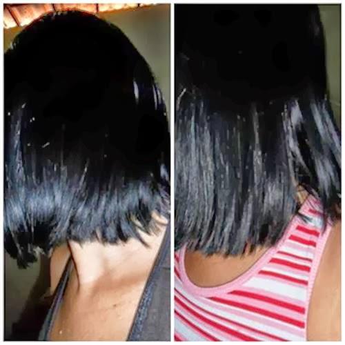 foto dos cabelos da Fernanda em tamanho maior