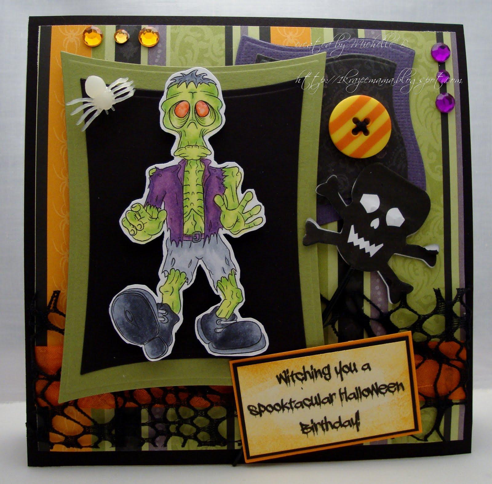 Krazee Kraftin Mama Halloween Birthday