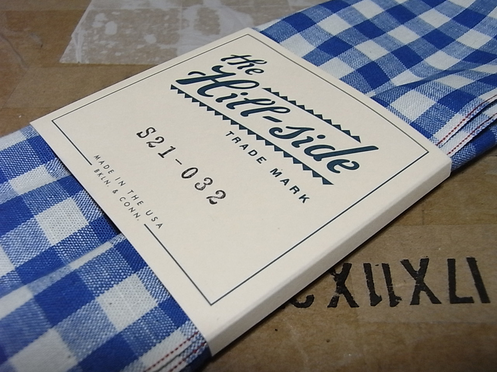The Hill-Side S21-032 Selvage Lightweight Gingham Chambray Bandana