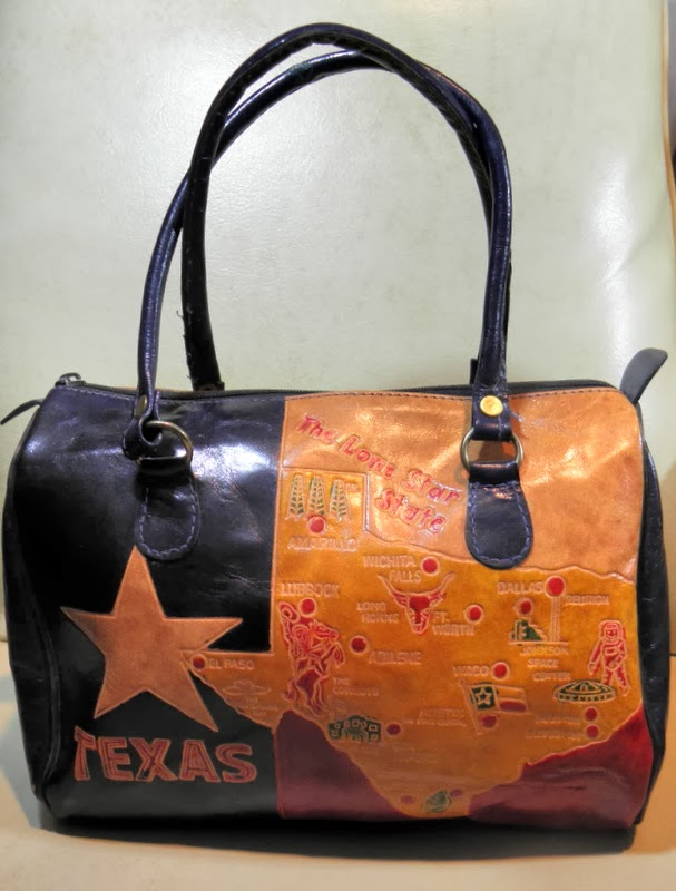 Vintage Hand Tooled Leather Texas Doctor Bag