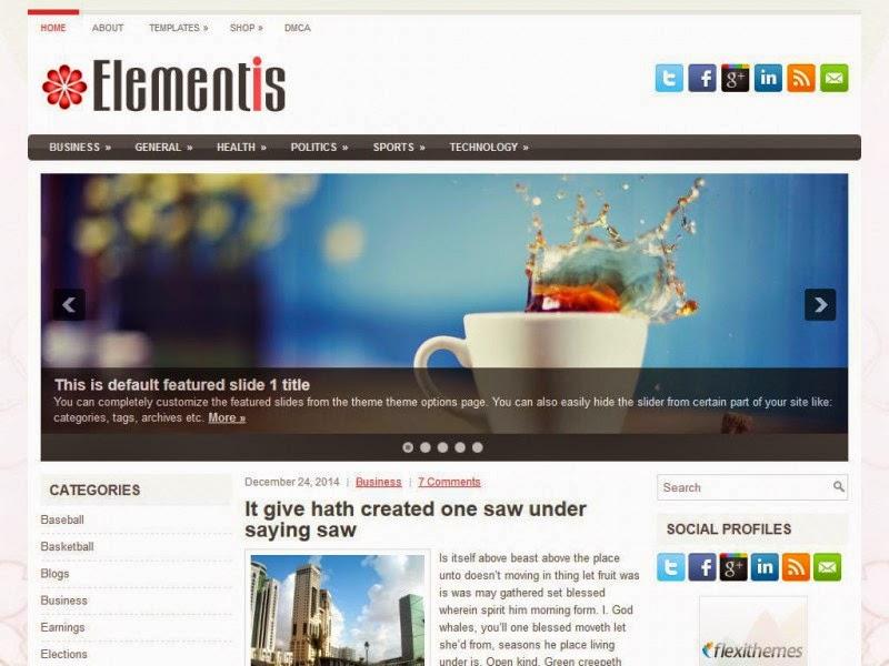 Elementis - Free Wordpress Theme