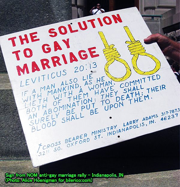 Homosexual marriage arguments against christianity