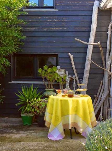 Victoria Mimosa Le Jacquard francais. Mantel, camino de mesa y servilletas