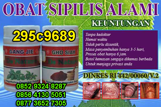 OBAT SIPILIS HERBAL DE NATURE INDONESIA