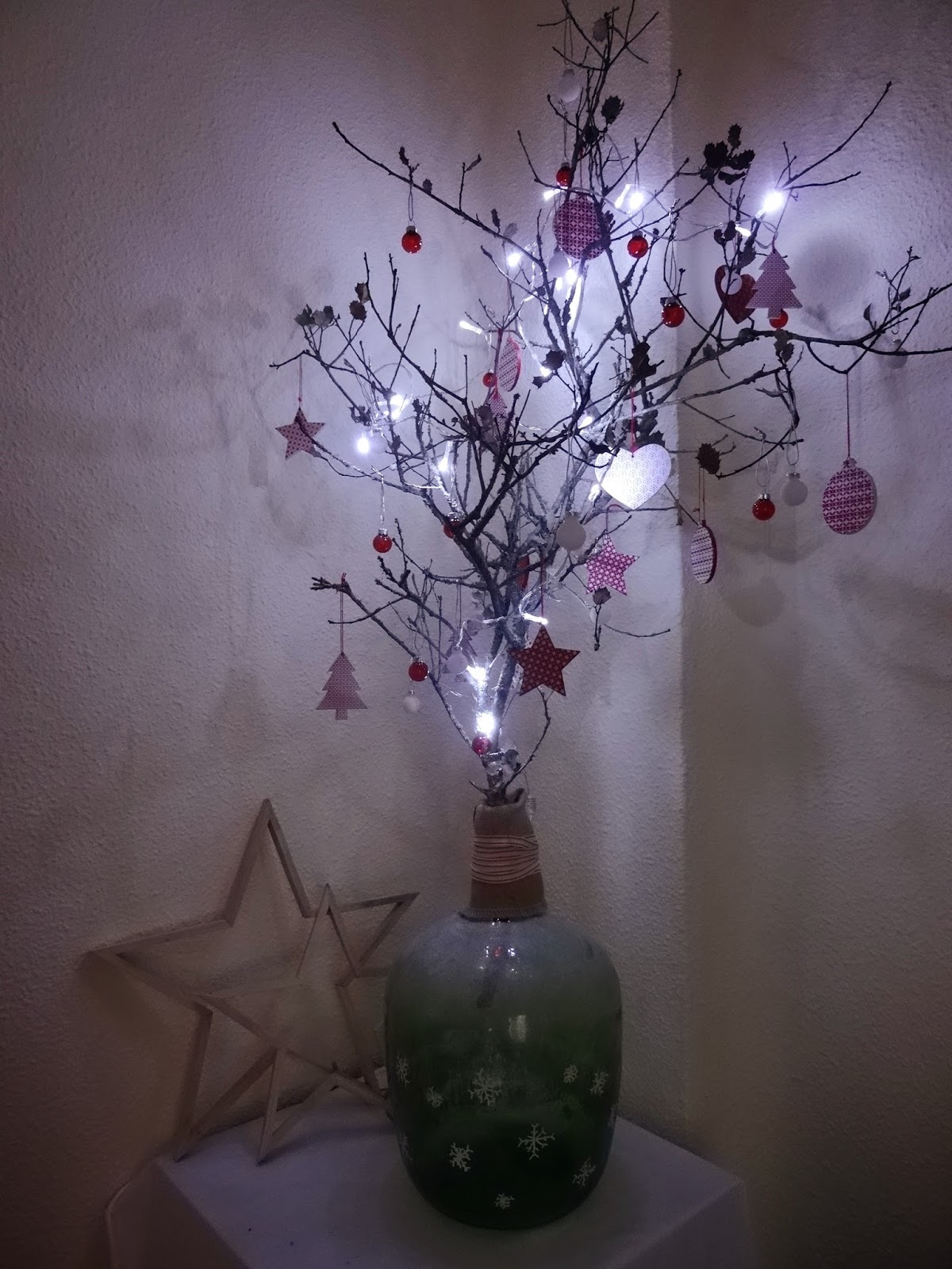 rbol de navidad blanco y rojo