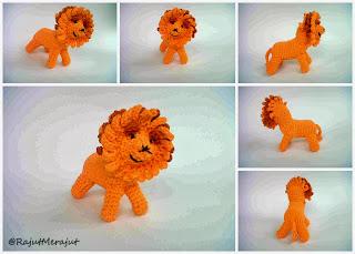 Lion Amigurumi, Amigurumi Singa, Singa Rajut, Boneka Singa