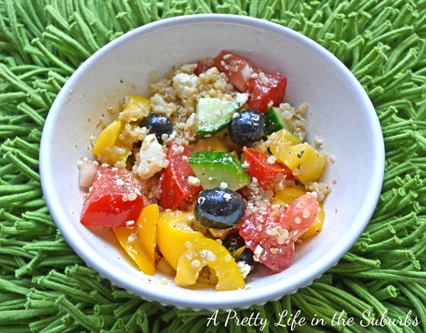 Greek Quinoa Salad - A Pretty Life In The Suburbs