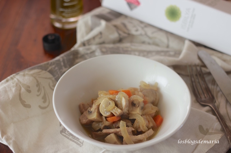 Lomo de cerdo con verduras