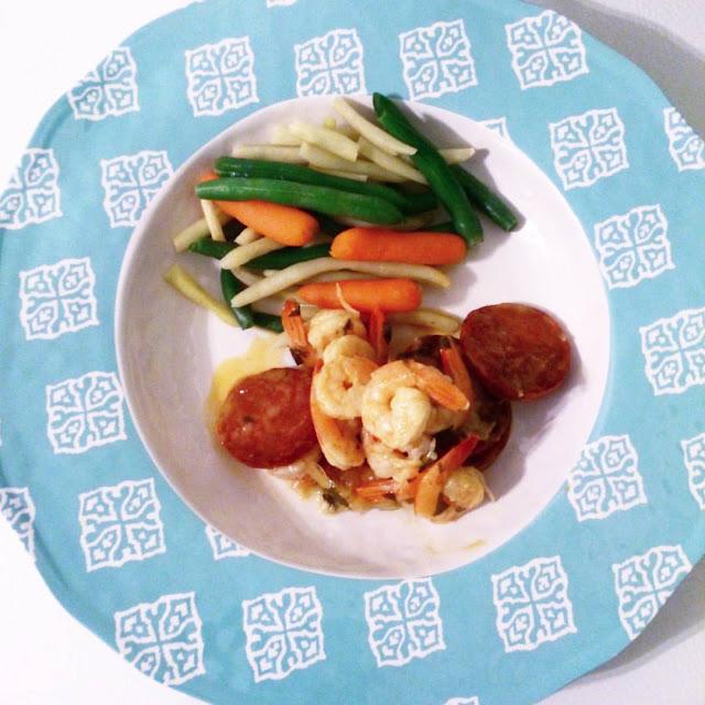 Crevettes épicées au chorizo: Une recette du cuisinier rebelle que j'ai adapté.