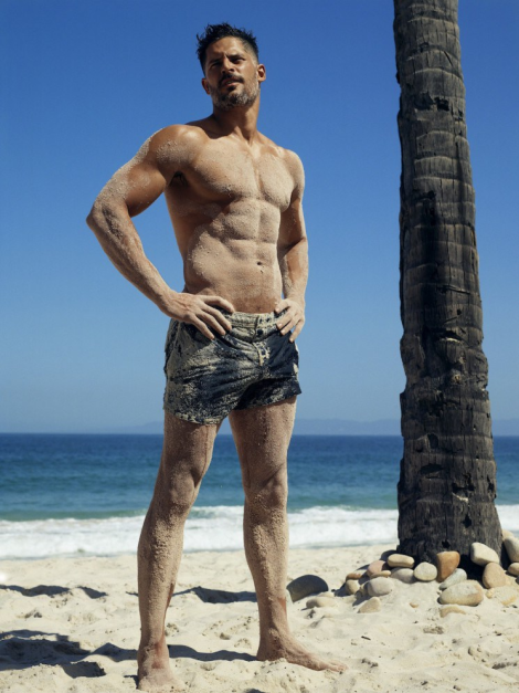 Joe Manganiello at the Beach