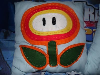 super mario fire flower pillow